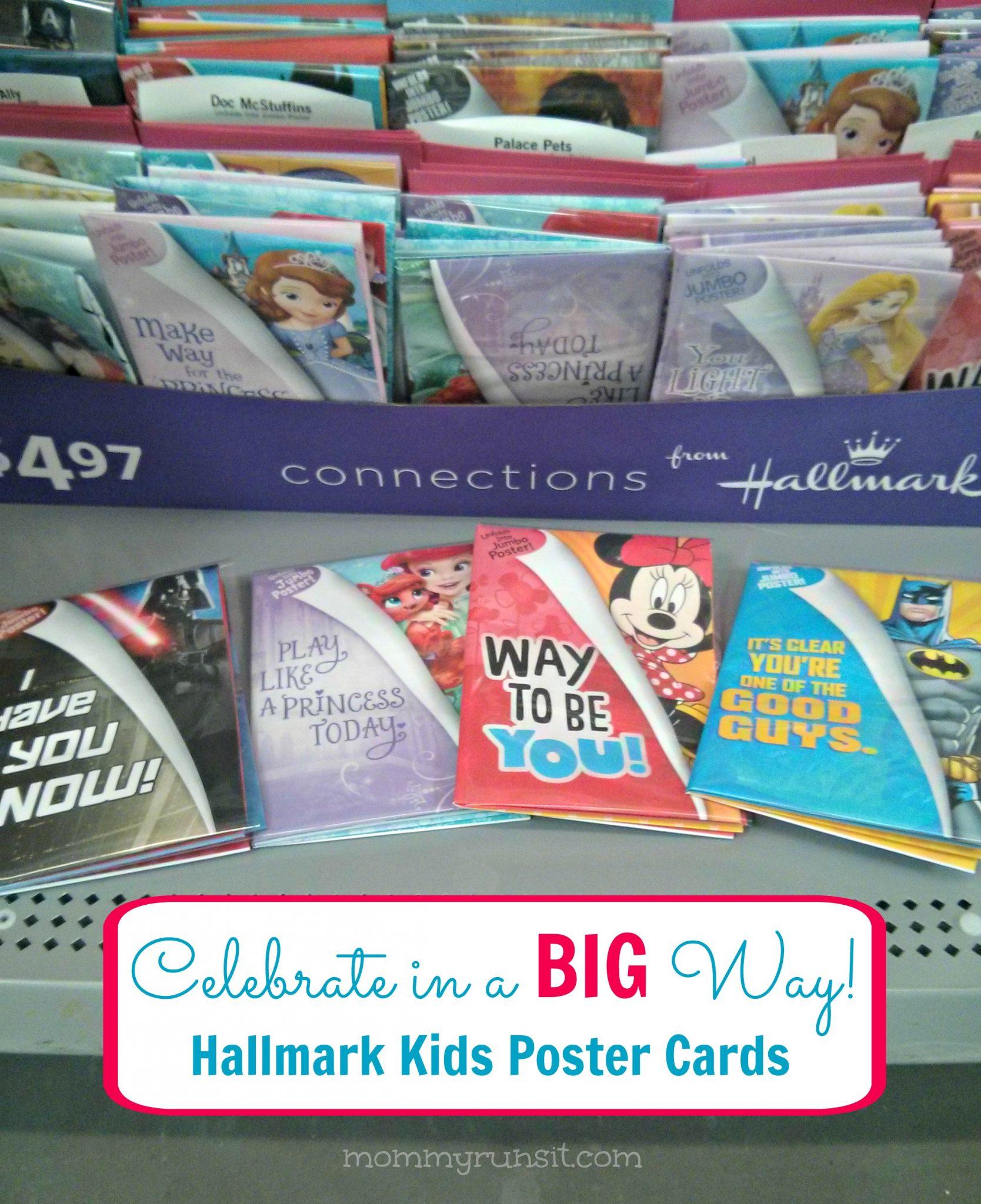 Hallmark Poster Cards for Kids | Mommy Runs It #shop #kidscards #cbias